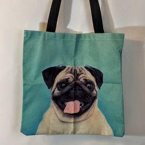 Bags - Pug Dog Market Bag Shopping Tote NWOT